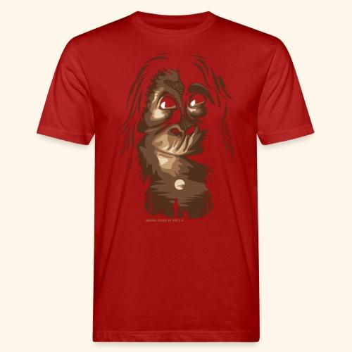 Orang-Utan und Mensch - Männer Bio-T-Shirt
