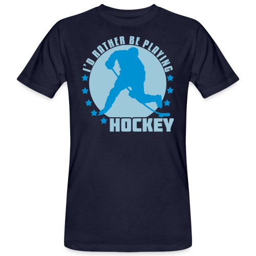 id_rather_be_playing_hock - Men's Organic T-Shirt