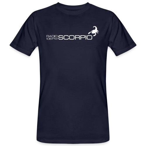 scorpio logo wit - Mannen Bio-T-shirt