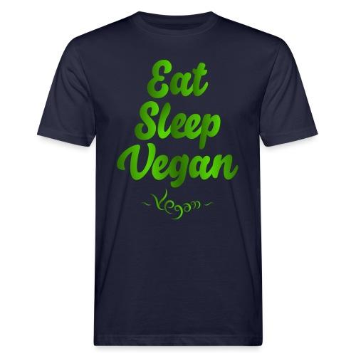 Eat Sleep Vegan - Miesten luonnonmukainen t-paita