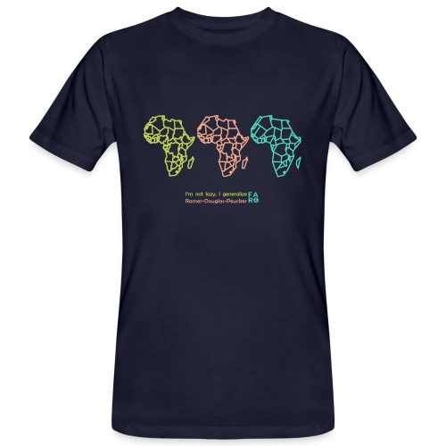 Ramer-Douglas-Peucker Algorithm -Africa - Men's Organic T-Shirt