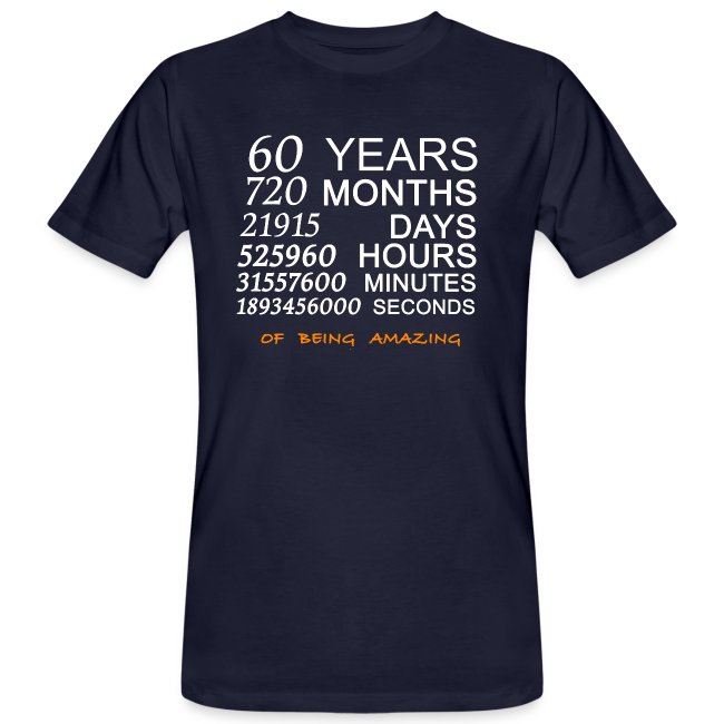 Anniversaire 60 years 720 months of being amazing