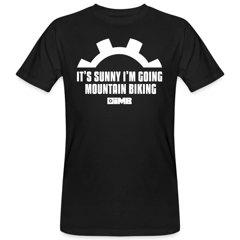 It's Sunny I'm Going Mountain Biking - Men's Organic T-Shirt - black