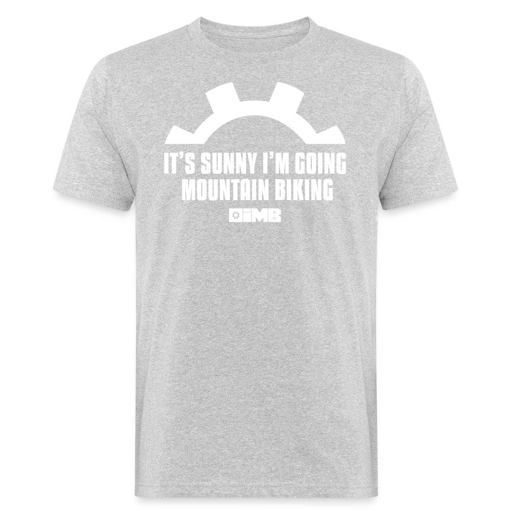 It's Sunny I'm Going Mountain Biking - Men's Organic T-Shirt - heather grey