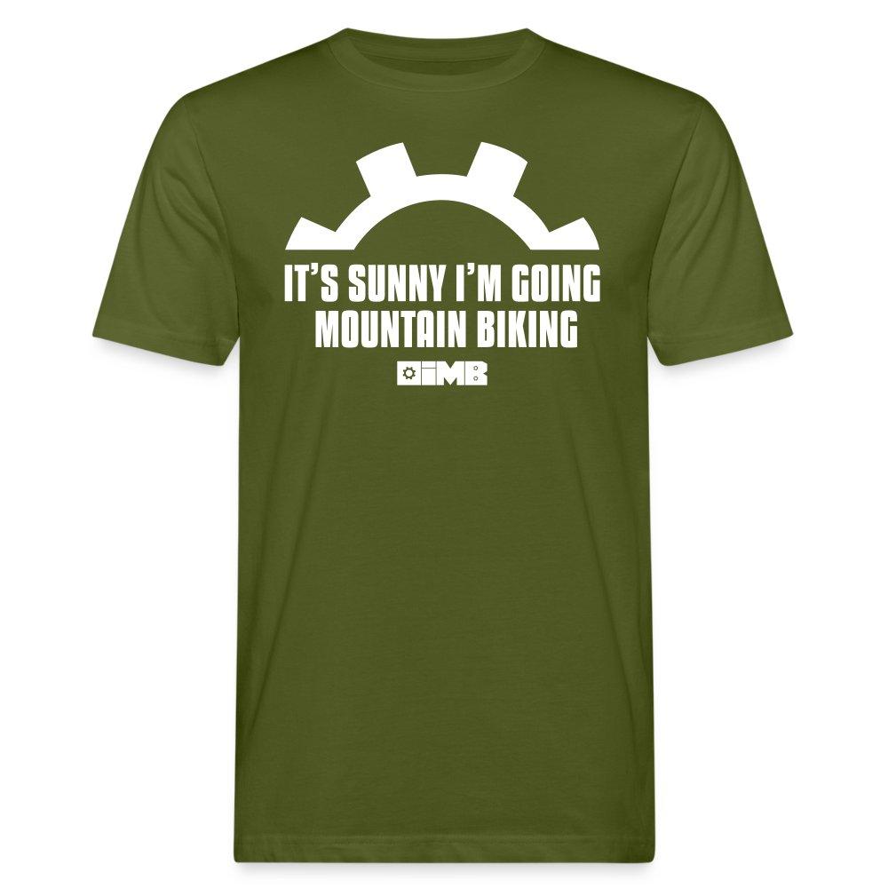 It's Sunny I'm Going Mountain Biking - Men's Organic T-Shirt - moss green