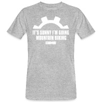 It's Sunny I'm Going Mountain Biking - Men's Organic T-Shirt - heather grey
