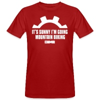 It's Sunny I'm Going Mountain Biking - Men's Organic T-Shirt - dark red