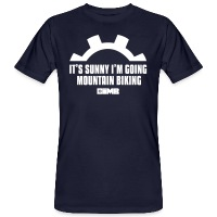 It's Sunny I'm Going Mountain Biking - Men's Organic T-Shirt - navy