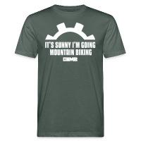 It's Sunny I'm Going Mountain Biking - Men's Organic T-Shirt - dark grey