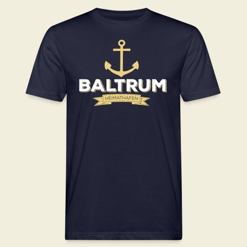 Heimathafen Baltrum - Männer Bio-T-Shirt