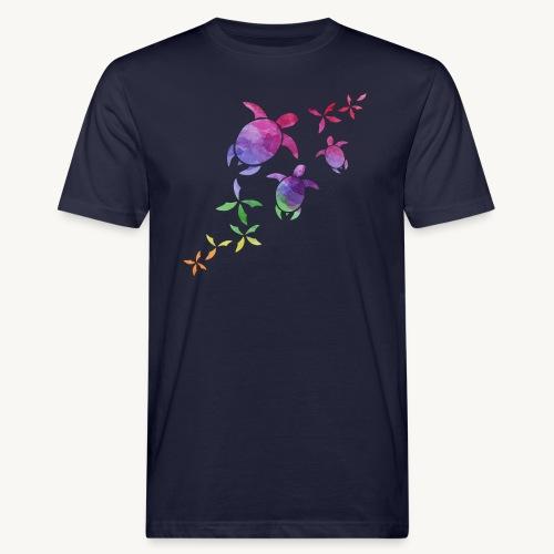 Schildkröten im Regenbogen - Männer Bio-T-Shirt