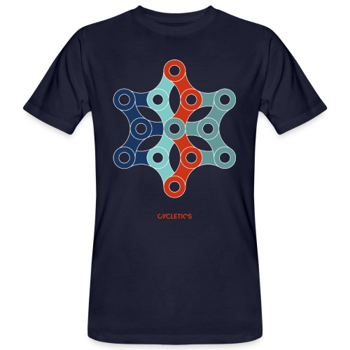 CYCLETYCSTAR-01 - Männer Bio-T-Shirt