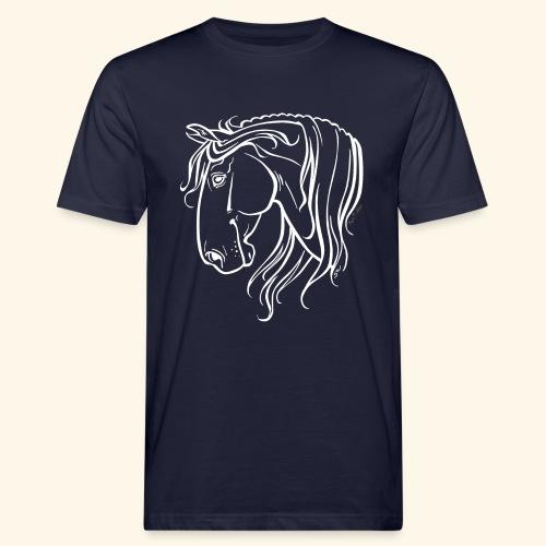 Cheval espagnol (blanc) - T-shirt bio Homme