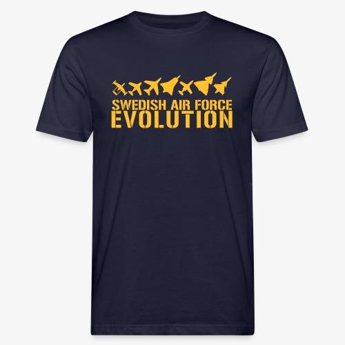 Swedish Air Force Evolution - Ekologisk T-shirt herr