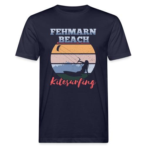 Kitesurfing Fehmarn - Männer Bio-T-Shirt