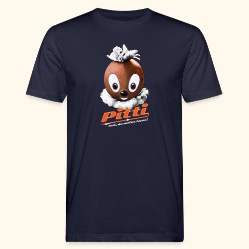 Pittiplatsch 3D Ach, du meine Nase auf dunkel - Männer Bio-T-Shirt