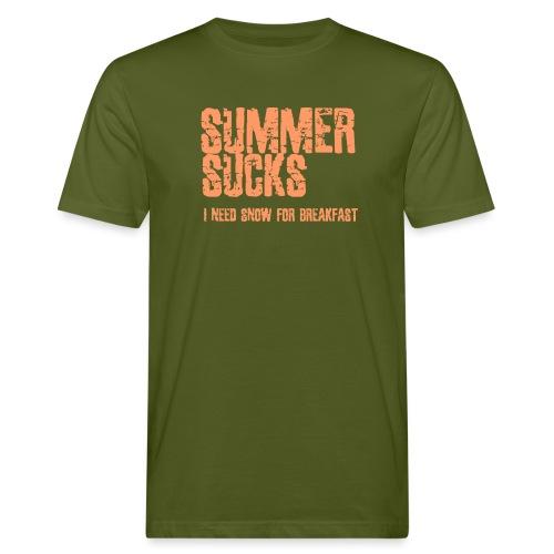 SUMMER SUCKS - Mannen Bio-T-shirt