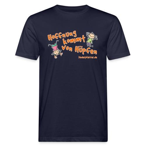 Hoffnung kommt von Hüpfen - Kinder - Männer Bio-T-Shirt