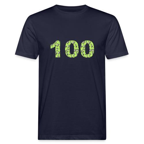 white man 100 followers - T-shirt ecologica da uomo