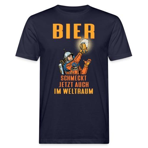 Bier schmeckt jetzt auch im Weltraum - Männer Bio-T-Shirt
