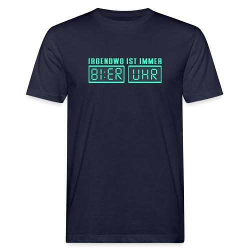 BIER UHR - Männer Bio-T-Shirt