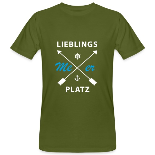Lieblingsplatz Meer - Männer Bio-T-Shirt