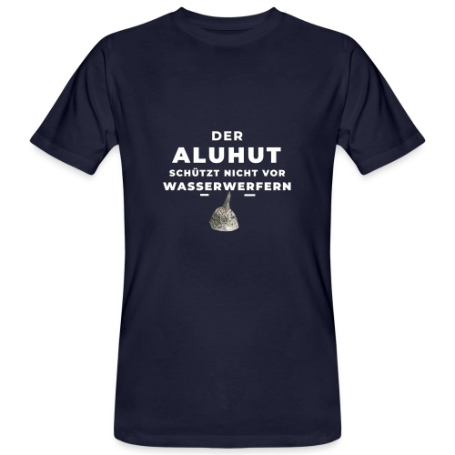 Aluhut und Wasserwerfer - Männer Bio-T-Shirt