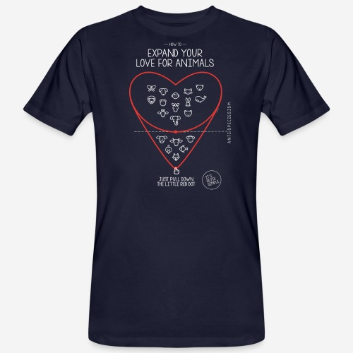 Expand your love for animals (dunkel) - Männer Bio-T-Shirt