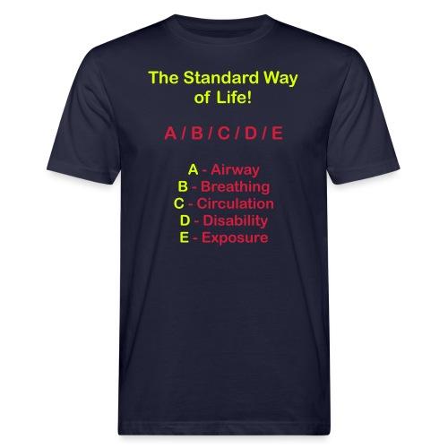 Rettungsdienst ABC Schema - Männer Bio-T-Shirt