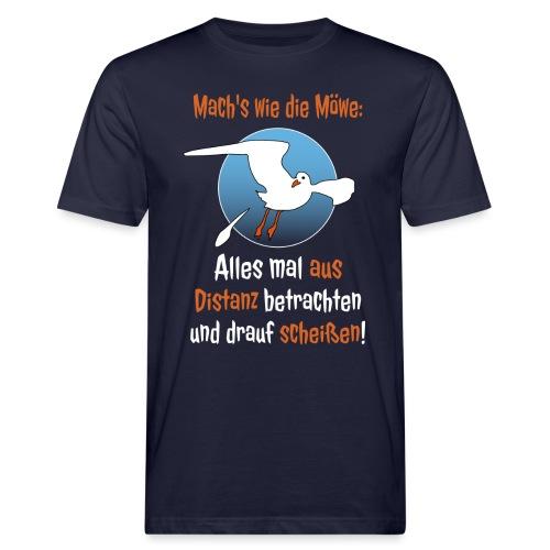 Möwe Scheißen Distanz Abstand Corona Spruch Lustig - Männer Bio-T-Shirt