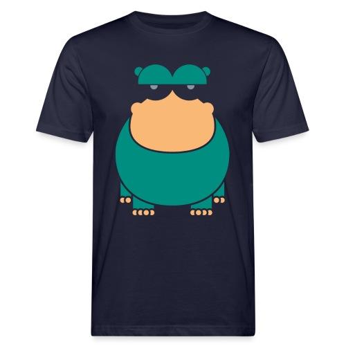 insolent hippo_darkgreen - Männer Bio-T-Shirt