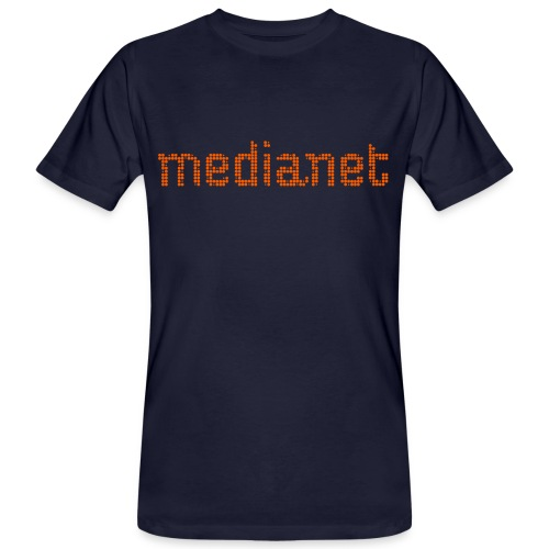 medianet logo orange - Männer Bio-T-Shirt