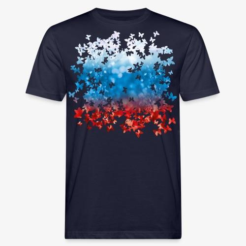 06 Russland Flagge Fahne Russia Schmetterlinge - Männer Bio-T-Shirt