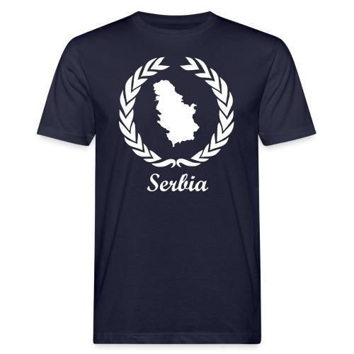 Connect ExYu Serbia White Edition - Männer Bio-T-Shirt