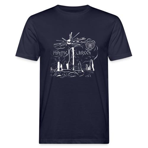 Pyro Mystic Rocks Feuerwerk - Männer Bio-T-Shirt