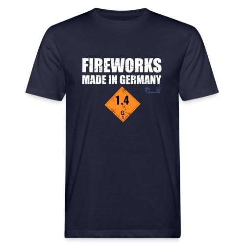 Feuerwerk aus Deutschland Pyrotechnik - Männer Bio-T-Shirt