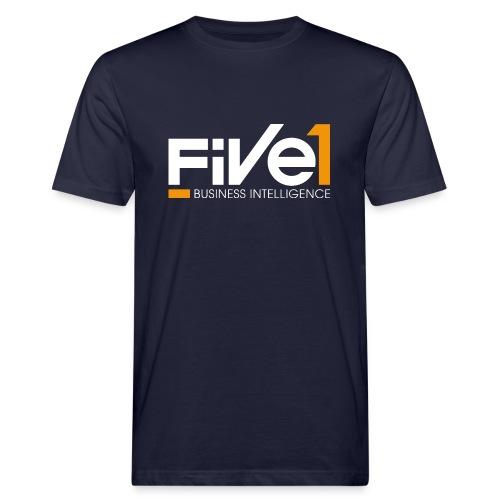Five1 LogoClaim RGB weiss Screen png - Männer Bio-T-Shirt