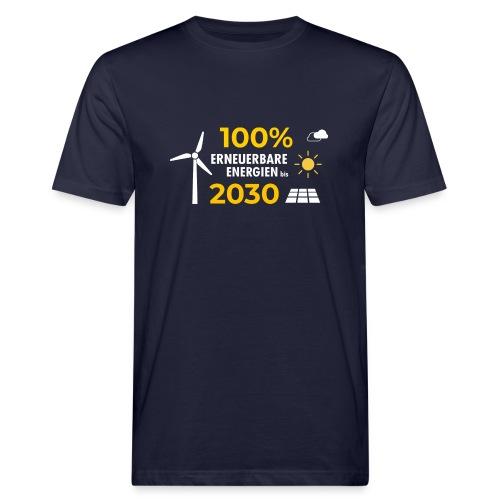 100% Erneuerbar 2030 - Männer Bio-T-Shirt
