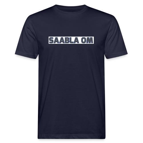 SAABLA OM BLÅ LOGO - Ekologisk T-shirt herr