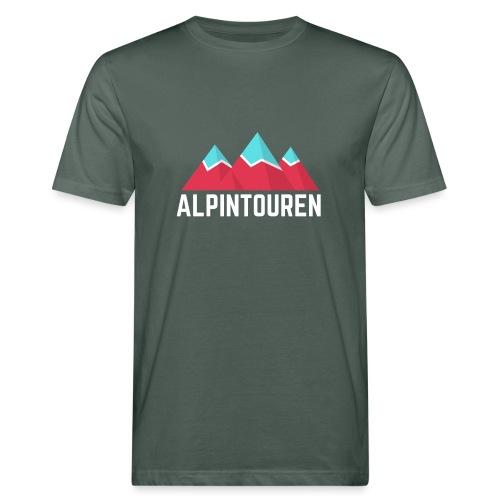 Alpintouren Logo - Männer Bio-T-Shirt