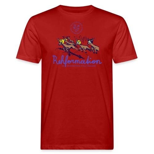 Die Rehformation - Männer Bio-T-Shirt