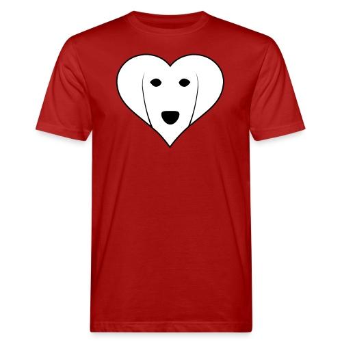 Saluki Heart - T-shirt ecologica da uomo