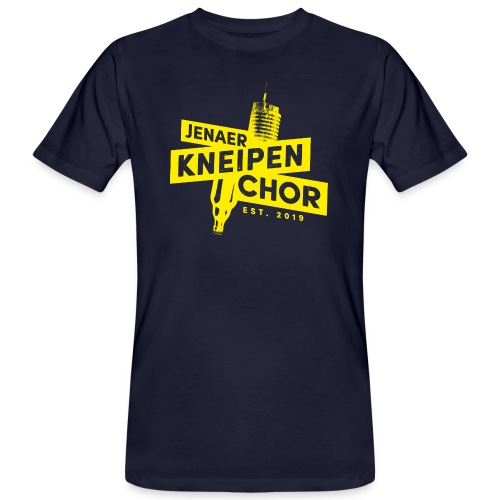 01 Jenaer Kneipenchor Logo gelb - Männer Bio-T-Shirt