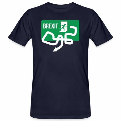 Brexit Exit Sign - Men's Organic T-Shirt