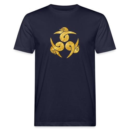 Three Geese Japanese Kamon in gold - Men's Organic T-Shirt