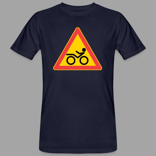 Traffic sign Recumbent - Miesten luonnonmukainen t-paita