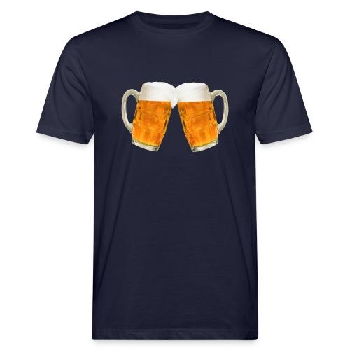 Zwei Bier - Männer Bio-T-Shirt