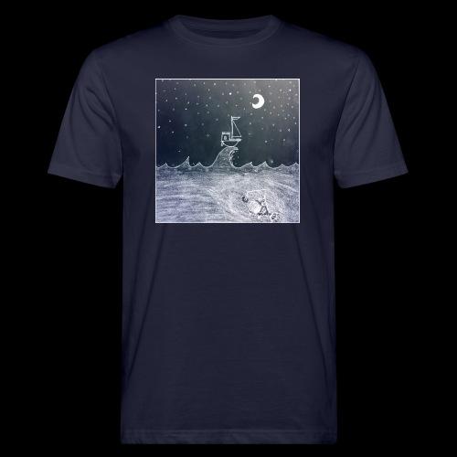 Saling Jade - Night Waves - Ekologisk T-shirt herr