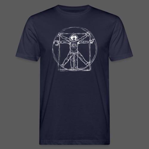 Vitruvian Gamer White Print - Männer Bio-T-Shirt