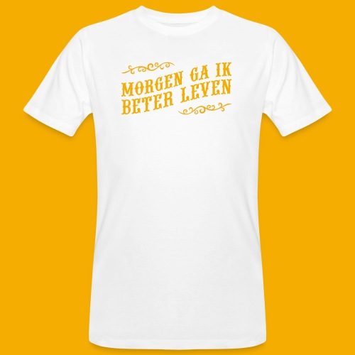 tshirt yllw 01 - Mannen Bio-T-shirt